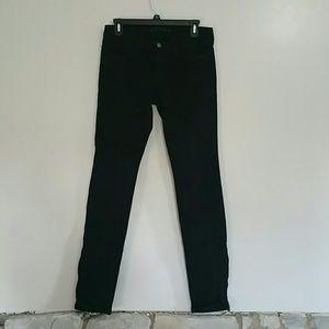 NWOT  J Brand black zip ankle skinny 28